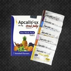 Apcalis-SX Gel di Frutta 7 Bustine Gelatina Orale 20mg (Tadalafil, Ajanta)